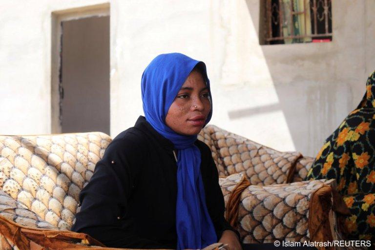 La Nigériane Halima est hébergée dans un refuge sécurisé a Beni Walid, en Libye. Crédit : Reuters