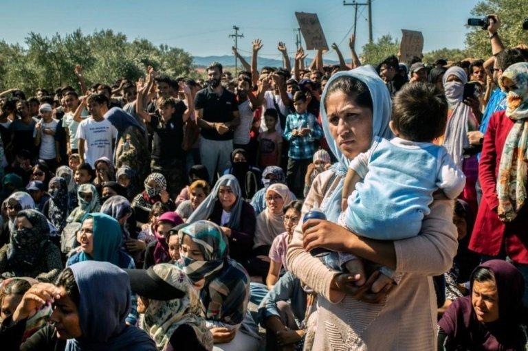 ظروف حياتية كارثية في مخيم موريا على جزيرة ليسبوس اليونانية. رويترز