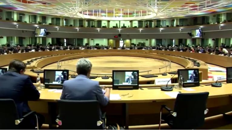 د اروپا د کورنیو وزیرانو غونډه. در بروکسل، ۳۱ اګست ۲۰۲۱. د رویټرز له ویډیو څخه.