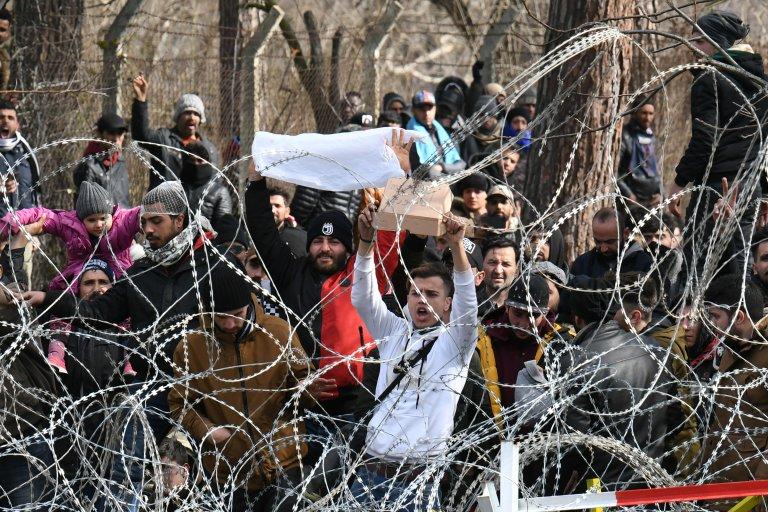 ترکیې او یونان پوله، مارچ ۲، ۲۰۲۰. تصویر: رویټرز/ الکساندروز