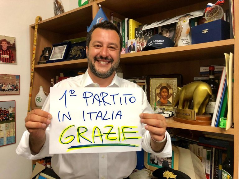 Interior Minister and leader of the party La Lega (The League) Matteo Salvini | PHOTO: ANSA/PRESS OFFICE