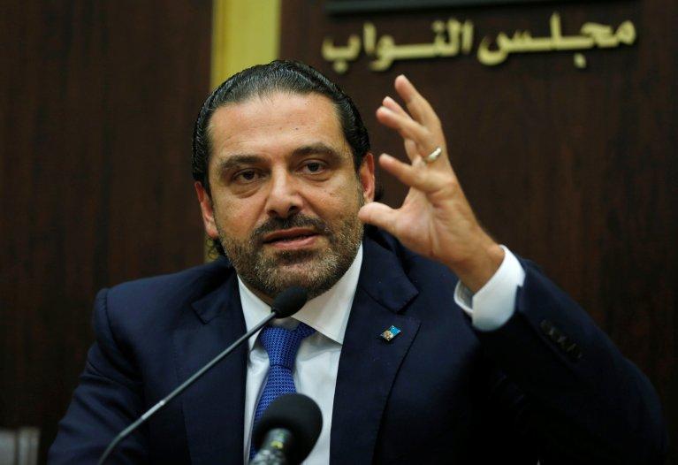 REUTERS/Mohamed Azakir  Le Premier ministre libanais Saad Hariri, le 9 octobre 2017.