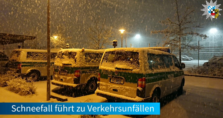 The state police in south west Germany (Mittelfranken) put up a warning on December 1 about snow falls in the area which could cause traffic accidents | Source: Twitter account for Polizei Mittelfranken @PolizeiMFR