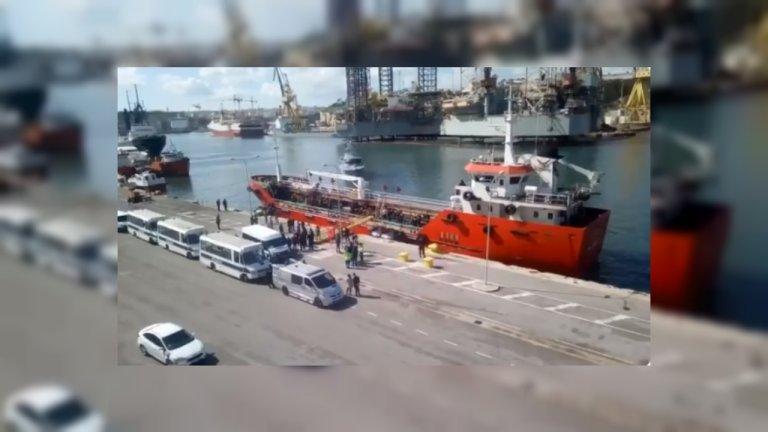 Image du débarquement des migrants à Malte, jeudi 28 mars 2019. Crédit : capture d'écran d'une vidéo de l'ONG Mission Lifeline