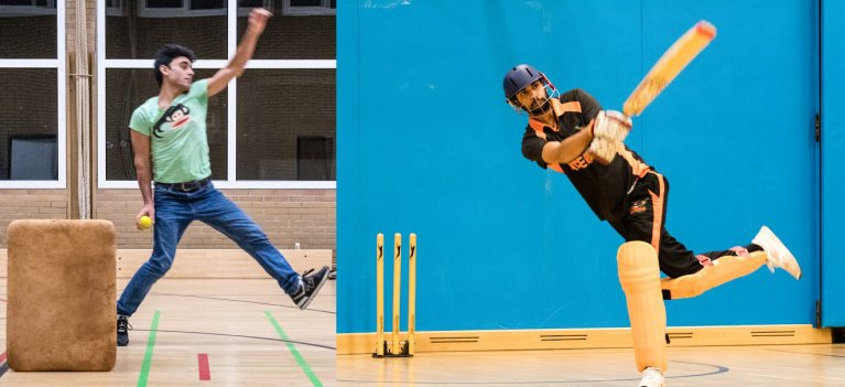 A recent practice at the Rheinland Riders Cricket Club in Germany, where migrants and refugees come together   Photo: Kai Dambach