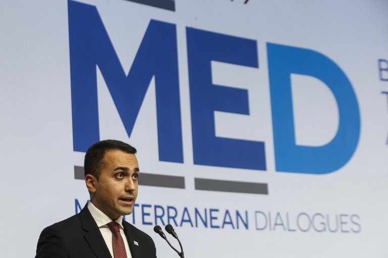 Italian Foreign Minister Luigi Di Maio during closing remarks at the Med Conference at Rome's Parco dei Principi Hotel on December 7, 2019 | ANSA/Fabio Frustac
