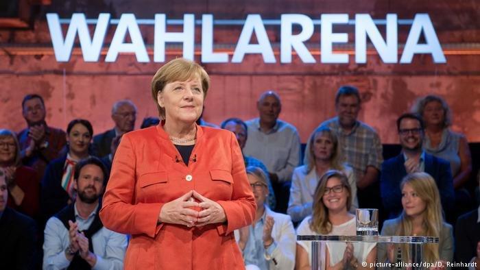 Angela Merkel, invitée de la Wahlarena (DW)
