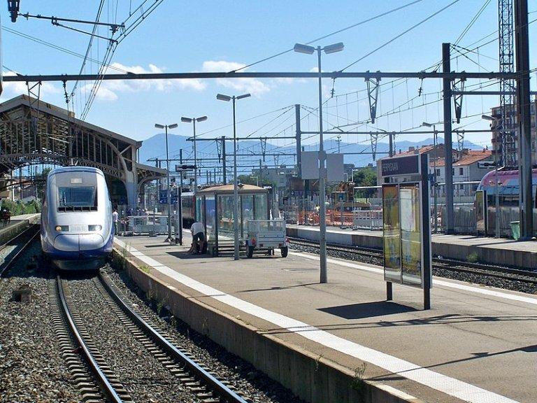 La gare de Perpignan, dans les Pyrénées-Orientales. Crédit : Wikimedia Commons