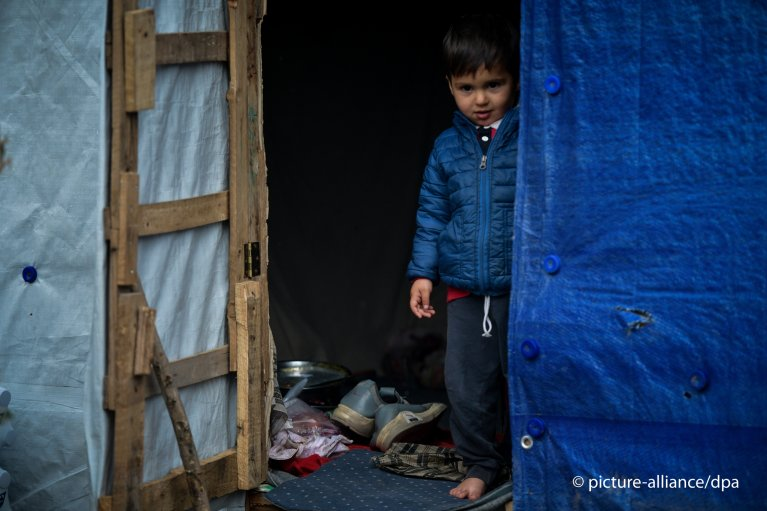 A boy at the Moria refugee camp on the Greek island of Lesbos | Photo: picture-alliance/dpa