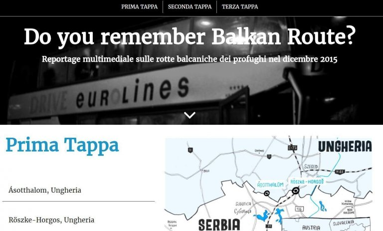 "Screenshot ""Do you remember the Balkan Route?"""