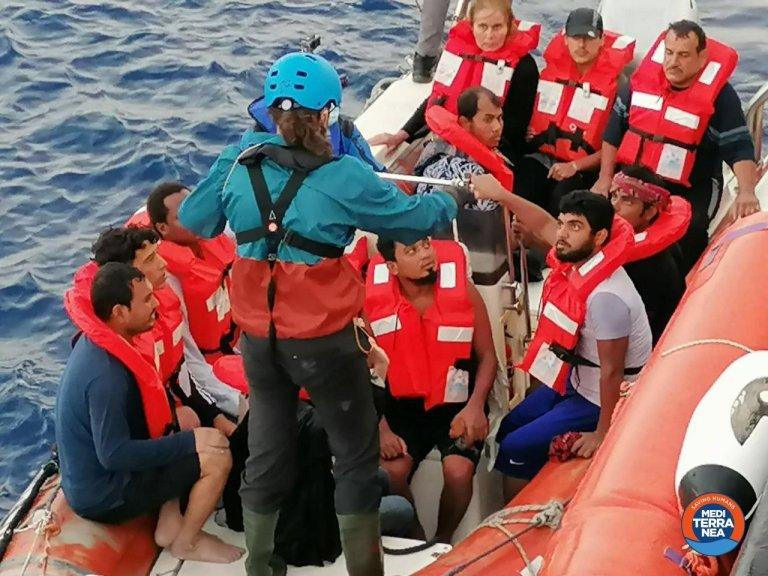 A migrant rescue off the coast of Libya in June 2020 | Photo: ANSA/Mediterranea Saving Humans