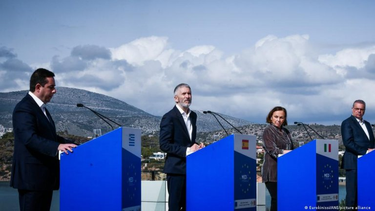 Ministers of the southern EU states meet in Athens on March 20, 2021 | Photo: Eurokinissi/ANE/picture-alliance