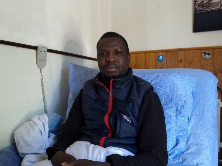 Abdoulaye Keita était un joueur de football de haut niveau, avant de devenir handicapé. Photo: Emma Wallis