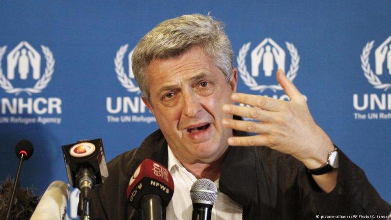 فلیپو گراندی، کمیسار عالی سازمان ملل در امور پناهندگان.
