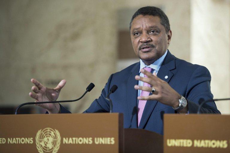 Yacoub El Hillo, United Nations Humanitarian Coordinator for Libya   Photo: EPA/Martial Trezzini
