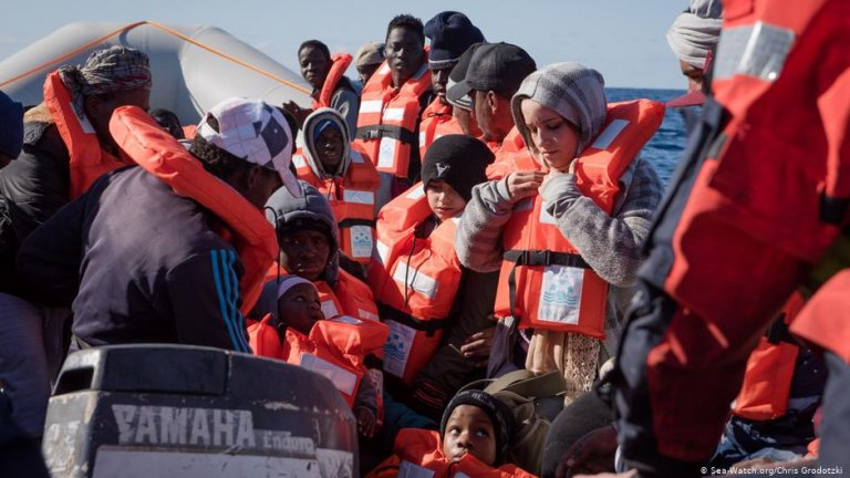 Migrants on board the rescue ship 'Sea-Watch 3' | Photo: Sea-Watch.org/Chris Grodotzki