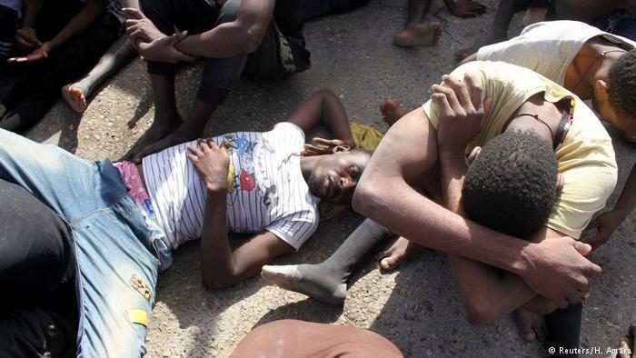 Irregular migrants detained in Libya (Reuters/H.Amara)