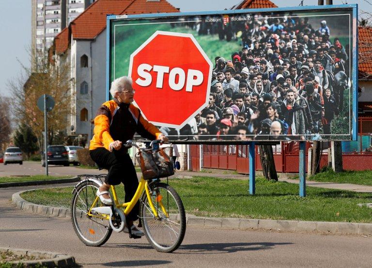Une affiche de campagne de Viktor Orban. Crédit : Reuters