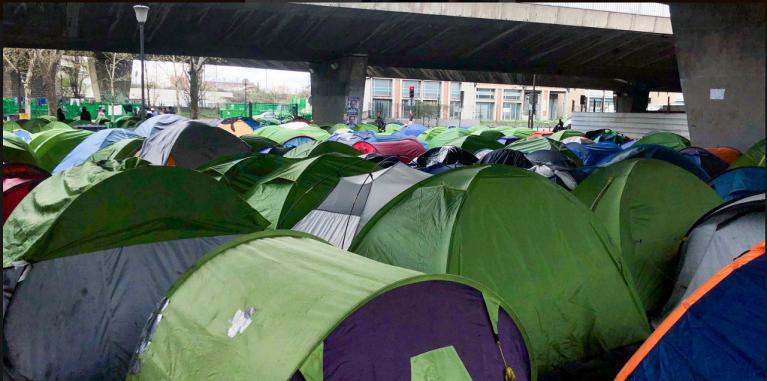 مخيم لا شابيل شمال باريس/بلدية باريس