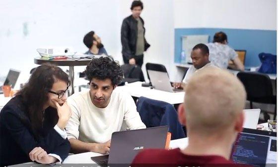 L'école Simplon forme les réfugiés au codage informatique. Crédit : Fondation de France