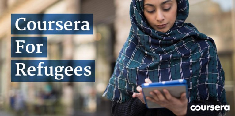 A photo from the Coursera for Refugees project | Credit: Coursera