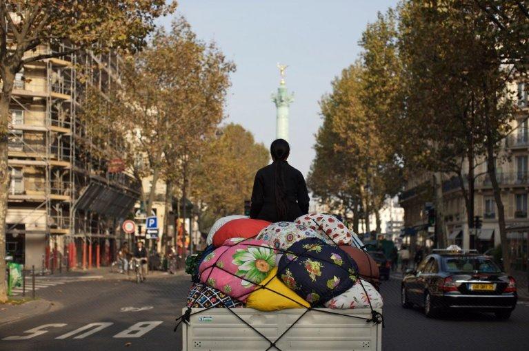 کامیون بوتاری، اثر کیم سویا. عکس از موزیم تاریخ ملی مهاجرت در پاریس.