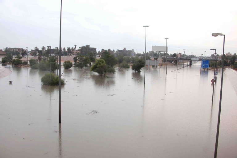 Flooding in Libya | Photo: EPA/SABRI ELMHEDWI