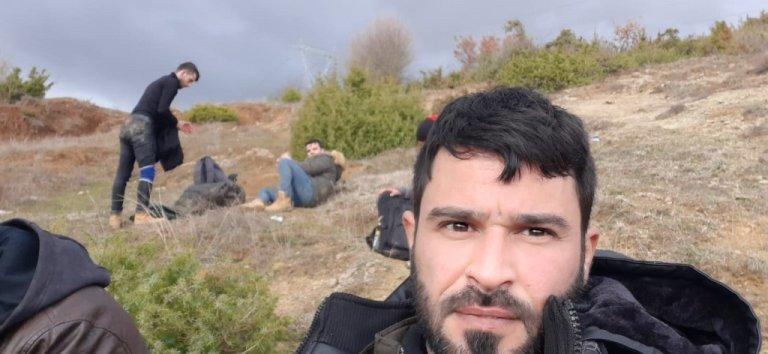 صورة لطارق أثناء إحدى محاولات العبور إلى المجر