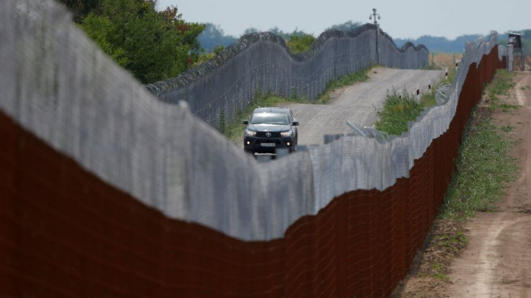 La frontière entre la Hongrie et la Serbie. Crédit Reuters