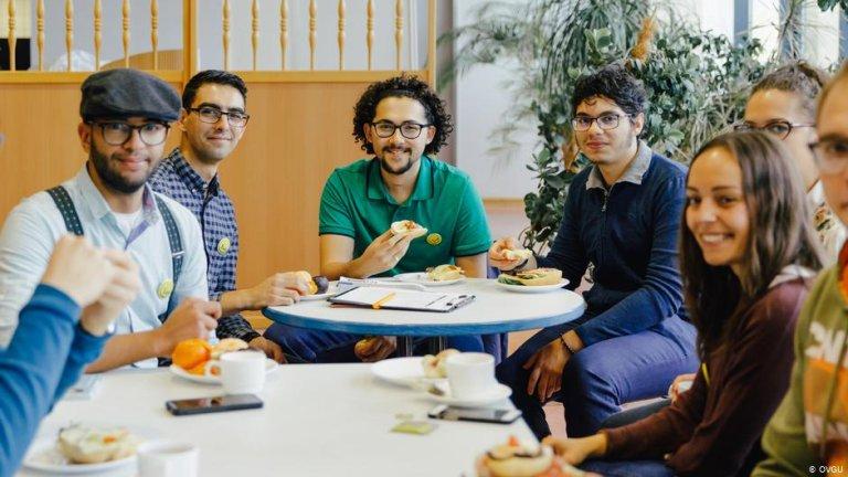 یک گروه از دانشجویان بین المللی در آلمان.