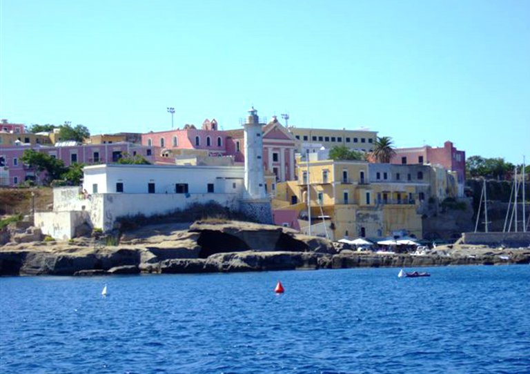 The picture shows the small port of Ventotene. Photo credit ANSA