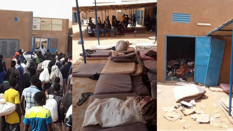 À Arlit, le confinement devient invivable pour les Subsahariens refoulés d'Algérie. Images envoyées par notre Observateur.