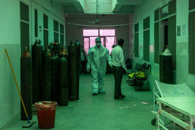 د هند د اوتار پردېش د بنجور سیمې یو روغتیایي مرکز. انځور: رویټرز، دانش صدیقي