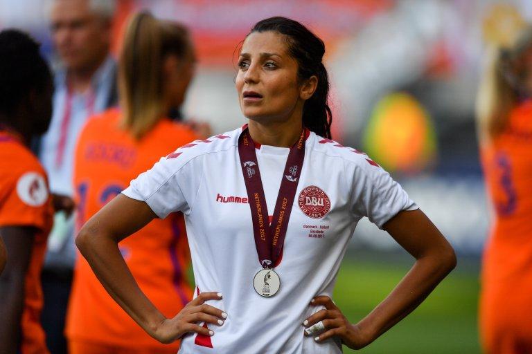 نادیا ندیم، ستاره بین المللی فوتبال و مهاجر پیشین از افغانستان/عکس: DBU