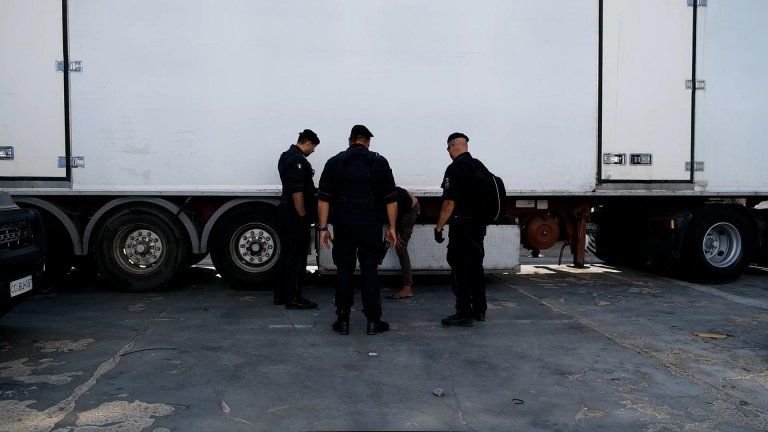 From the archives: Police stop a refrigerated lorry where a migrant tried to hide | Pasquale Claudio Montana Lampo / ANSA