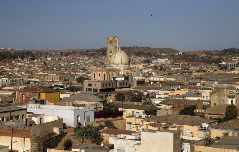 Vue aérienne d'Asmara, la capitale de l'Érythrée. Crédit : Reuters