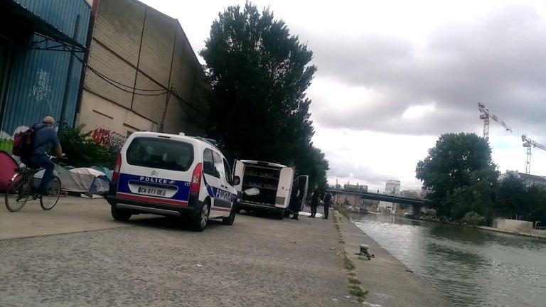 Un migrant soudanais a été retrouvé mort vendredi le long du canal Saint-Denis. Crédit : Comité migrants Wilson