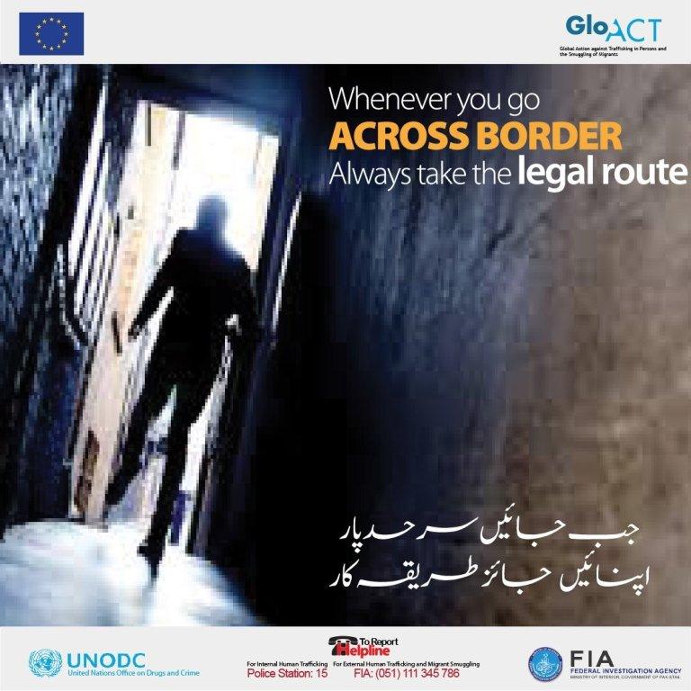 انساني قاچاق یو سنګین جرم دی. هر کله چې تاسو بهرنیو هیوادونو ته سفر کوئ باید قانوني لاره اختیار کړې. کرېډېټ: GLO.ACT