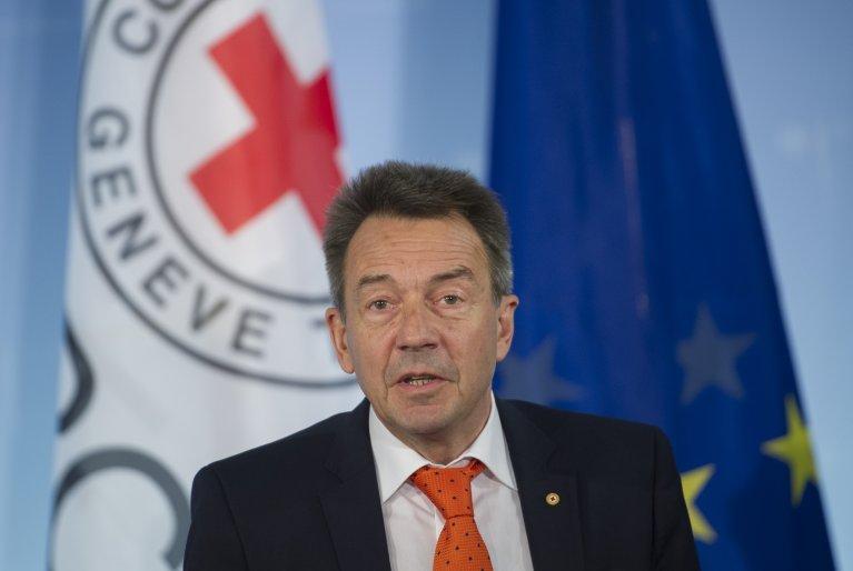 AFP/Steffi Loos |Peter Maurer, le président du Comité international de la Croix-Rouge.