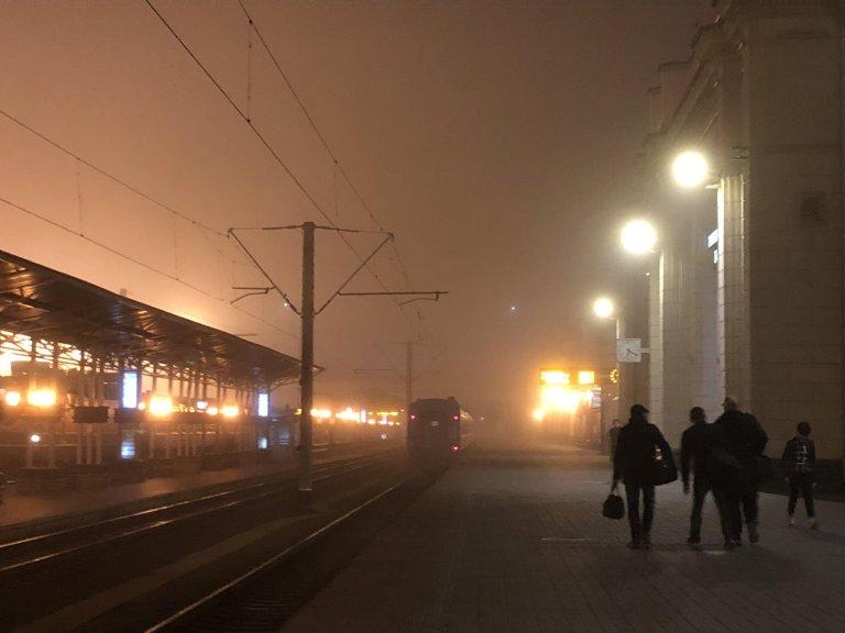 RFI / Sergey DMITRIEV |La gare de Brest, principal point d'entrée dans l'Union européenne pour les migrants de l'espace post-soviétique, en octobre 2019.