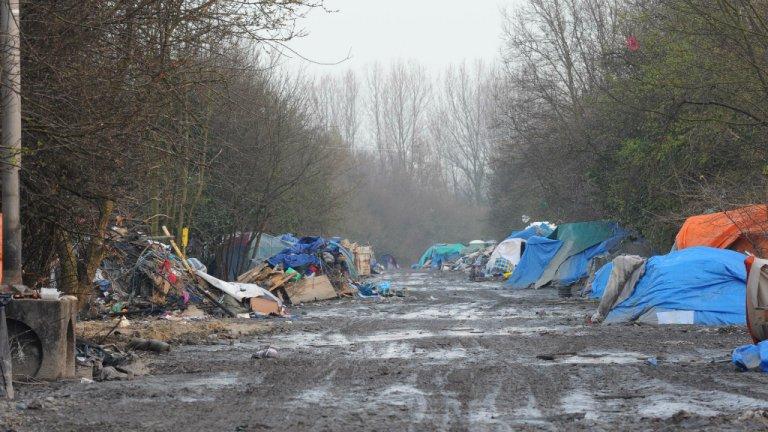 Image d'archive d'un campement de migrants à Grande-Synthe. Crédits photo : Mehdi Chebil/InfoMigrants