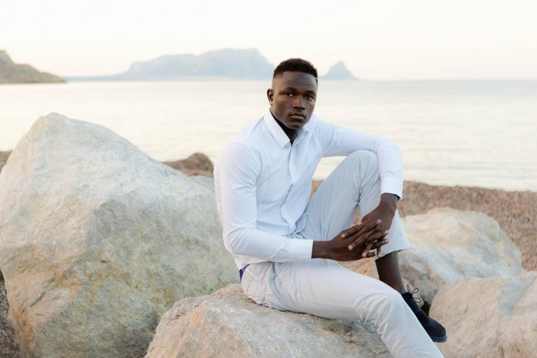 Ismail Drammeh is beginning a career as a model after arriving as an unaccompanied minor in Italy. (Facebook)