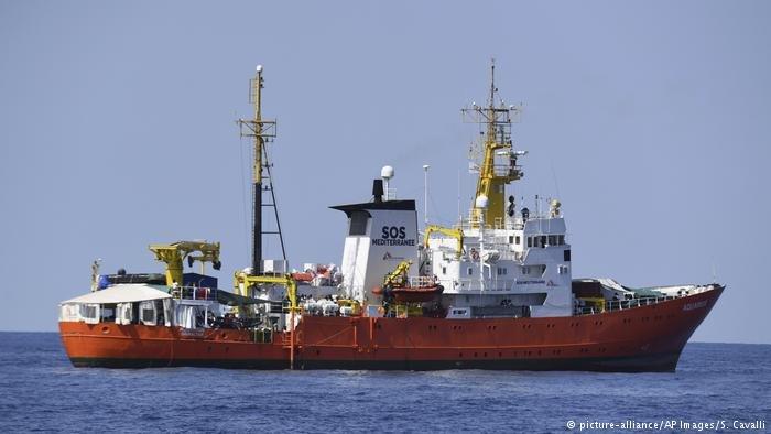 French vessel Aqaurius in the Mediterranean Sea