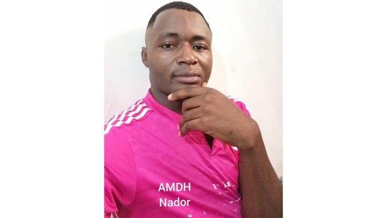 Félix, un jeune migrant camerounais, a été tué vendredi 31 juillet 2020 près de Tanger après avoir été arrêté avec d'autres migrants qui voulaient tenter la traversée vers l'Espagne. Une enquête a été ouverte. Crédit : AMDH Nador