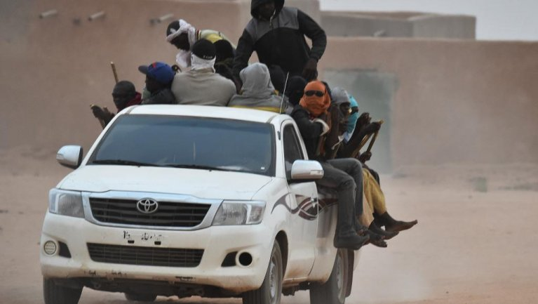 © AFP/Issouf Sanogoissouf Sanogo | Une camionnette transportant des migrants  à Agadez au Niger (photo d'illustration).