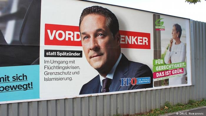 Election poster of Heinz-Christian Strache in Austria
