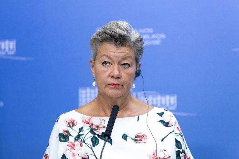 إيلفا جوهانسون مفوضة الشؤون الداخلية بالاتحاد الأوروبي. المصدر: إي بي إيه/ لايما بينيك.