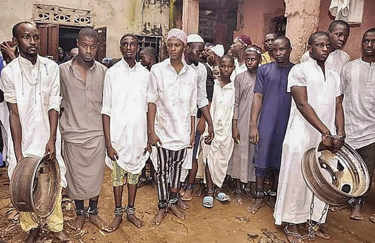 Students rescued from an Islamic boarding school by Nigerian police during a raid in Kaduna, Nigeria, 26 September 2019. According to Nigerian police, 300 were rescued after being held at a reportedly Islamic school where many had allegedly been tortured and sexually abused | Photo: Nigerian Police