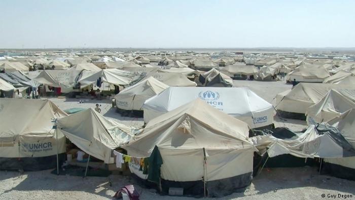مخيم للاجئين في الأردن /  Guy Degen - Deutsche Welle