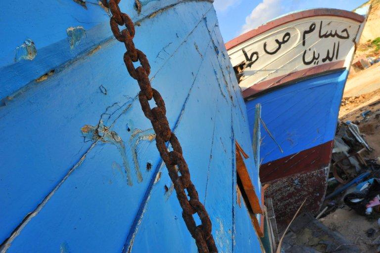 ANSA / حطام أحد قوارب المهاجرين في لامبيدوزا. المصدر: أنسا/ سيرو فوسكا.